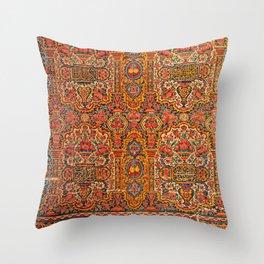 Persian Miniature Art Ornamental Tilework, Shiraz Throw Pillow