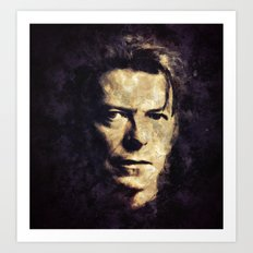 David Bowie painting Art Print