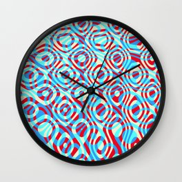 Mixed Polyps Red Blue - Coral Reef Series 035 Wall Clock