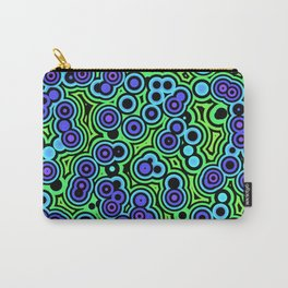 Abstract neon psychedelic wallpaper Carry-All Pouch