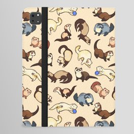 Ferrets in cream iPad Folio Case