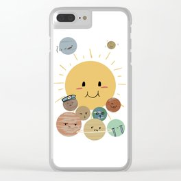 Solar Family Clear iPhone Case