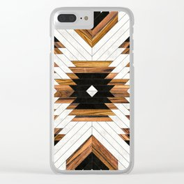 Urban Tribal Pattern 5 - Aztec - Concrete and Wood Clear iPhone Case