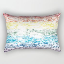 LGBTQ+ Pride Flag Distressed Design Rectangular Pillow