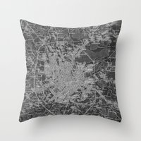 moscow Throw Pillows featuring Moscow by Upperleft Studios