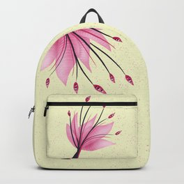 Pink Abstract Water Lily Flower Backpack