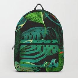 nigth tropical leaves Backpack