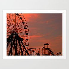 Sundown in Fun Town Art Print