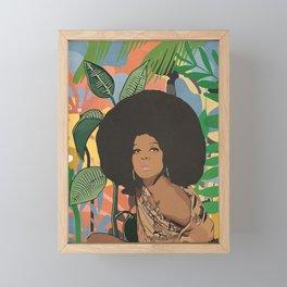 Afro woman  Framed Mini Art Print