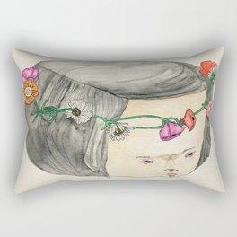 Flower Crown Frown Rectangular Pillow