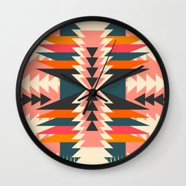 Colorful ethnic decoration Wall Clock