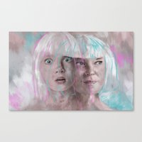 sia Canvas Prints featuring Sia - Maddie by firatbilal