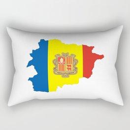 Andorra flag map Rectangular Pillow