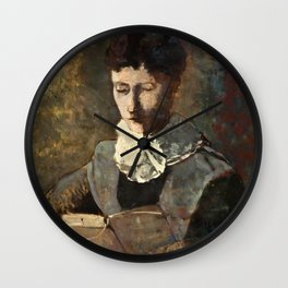 "Odilon Redon ""Madame Camille Redon lisant"" Wall Clock"