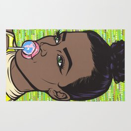 lollipop comic girl Rug