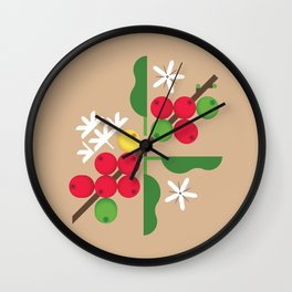 Coffee Plant Wall Clock