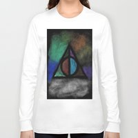 deathly hallows Long Sleeve T-shirts featuring Deathly Hallows - Dark! by Ria-Ra