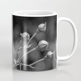 Black and white rose on bokeh background Coffee Mug