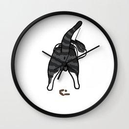 CAT SHIT Wall Clock