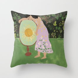 Sister of the Sun Throw Pillow