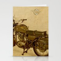 ducati Stationery Cards featuring Ducati vintage background by Larsson Stevensem