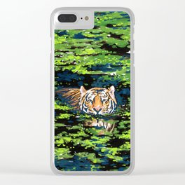 Tiger Pond Clear iPhone Case