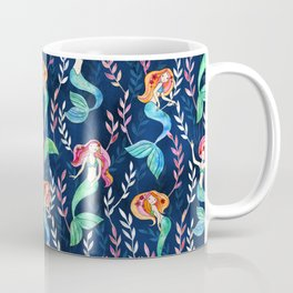 Merry Mermaids in Watercolor Coffee Mug