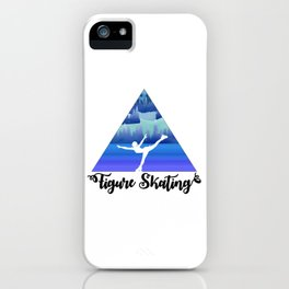 Figure Skating Female Skater Gift iPhone Case