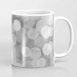 Black and White Silver Bokeh Coffee Mug