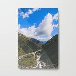 Otira Viaduct Metal Print