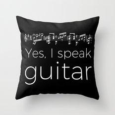 Speak guitar? Throw Pillow