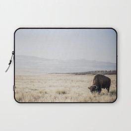 Bison Grazing Laptop Sleeve