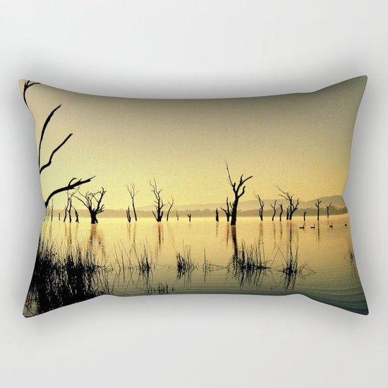The Golden Lake Rectangular Pillow