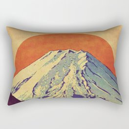 The Red Sunrise at Dayai Shore Rectangular Pillow