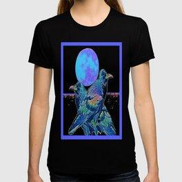 Raven's Blue Moon Art Abstract T-shirt