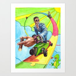 Candy Land. Sevenfriday, Rocketbyz and Watch Anish travel through Sunflowerman's imagination Art Print