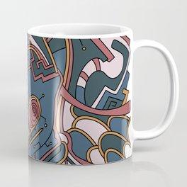 Wandering Abstract Line Art 44: Orange Coffee Mug