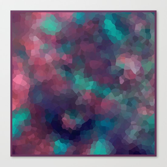 Abstract pattern blue raspberry and turquoise crystals . Canvas Print