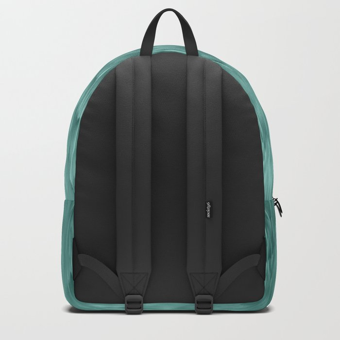 mint abstract rain Backpack