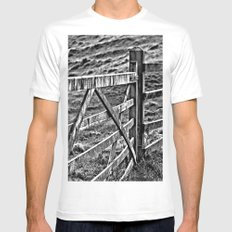 Peak district gate Mens Fitted Tee White MEDIUM