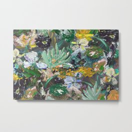 Flower piece Mint green purple | by Martine de Ruiter Metal Print