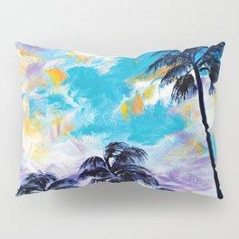 Oceanside Palm Trees Pillow Sham