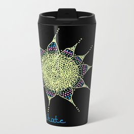 meditate Doodle Dots Travel Mug