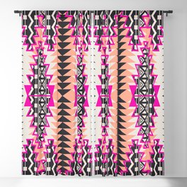 Tribal Beat Geo Magenta Blackout Curtain