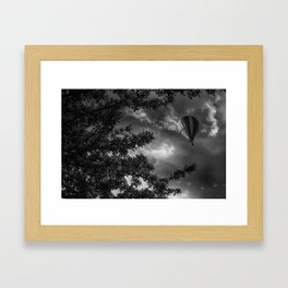 To the clouds Framed Art Print