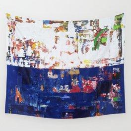 Myth Modern Art Blue Wall Tapestry
