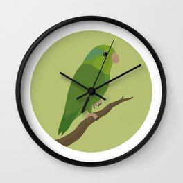 Pacific Parrotlet Wall Clock
