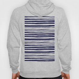 Blue- White- Stripe - Stripes - Marine - Maritime - Navy - Sea -Beach - Summer - Sailor 3 Hoody