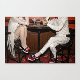 I'd like to take you on a date. Sixteen past eight Canvas Print