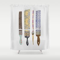 couple Shower Curtains featuring color your life by Bianca Green